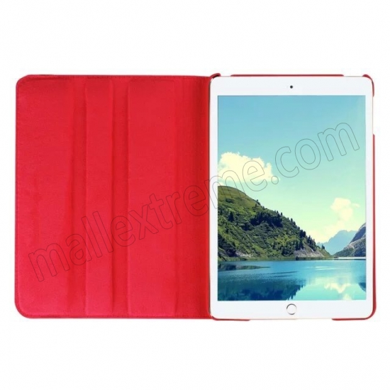 top quality Red 360 Degrees Rotating Stand PU Leather Smart Case Cover for Apple iPad mini 4
