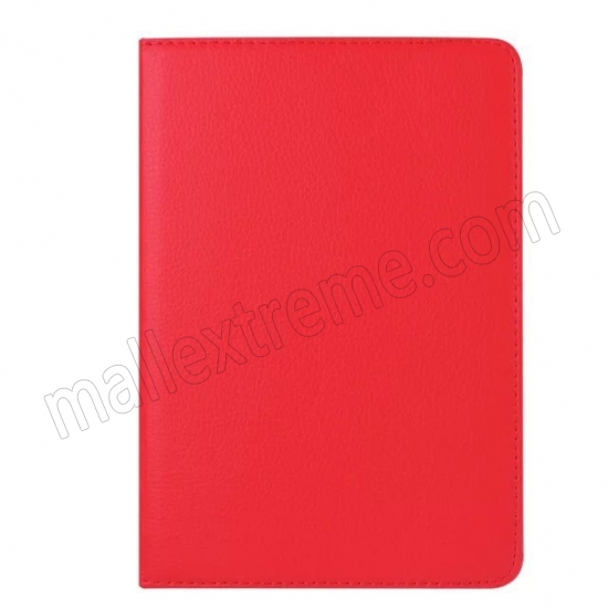 on sale Red 360 Degrees Rotating Stand PU Leather Smart Case Cover for Apple iPad mini 4