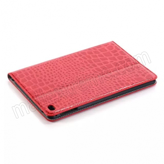 discount Red New Crocodile Wallet Leather Case Cover with Stand For Apple iPad mini 4