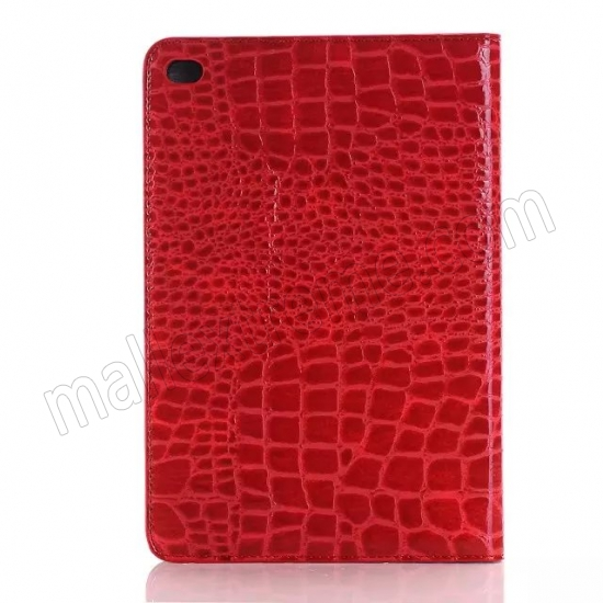 top quality Red New Crocodile Wallet Leather Case Cover with Stand For Apple iPad mini 4