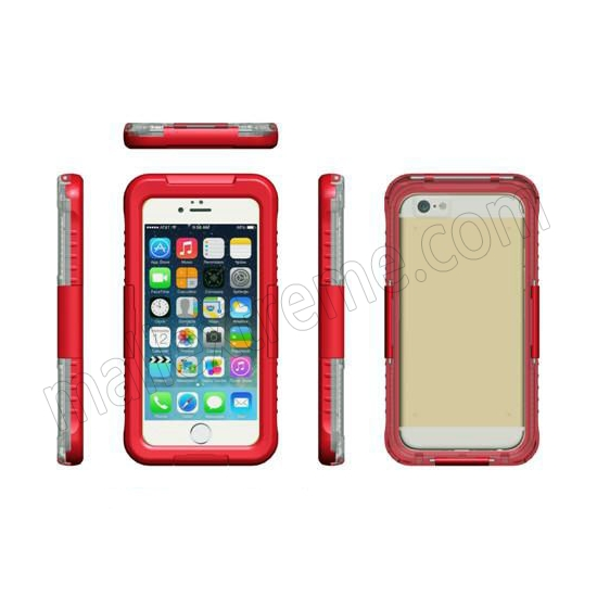 discount Red Waterproof Dirt Snow Proof Full-Protect Diving Case Cover For iPhone 6S Plus