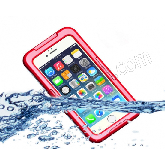 wholesale Red Waterproof Dirt Snow Proof Full-Protect Diving Case Cover For iPhone 6S Plus