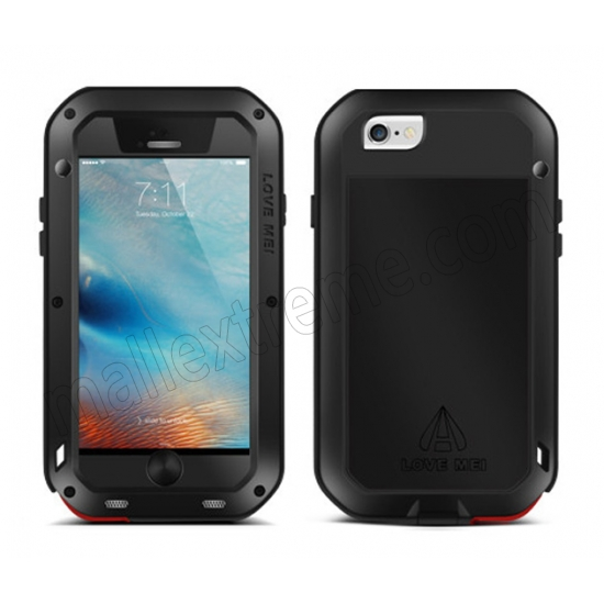 cheap Shockproof Dirtproof Case Metal Aluminium+Gorilla Glass+Silicon Hybrid Case for iPhone 6S 4.7 Inch
