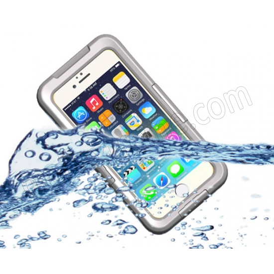wholesale White Waterproof Dirt Snow Proof Full-Protect Diving Case Cover For iPhone 6S Plus