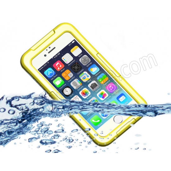 wholesale Yellow Waterproof Dirt Snow Proof Full-Protect Diving Case Cover For iPhone 6S Plus