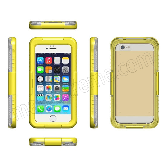 discount Yellow Waterproof Dirt Snow Proof Full-Protect Diving Case Cover For iPhone 6S Plus