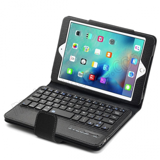top quality Black Folding PU Leather Case for Apple iPad Mini 4 with Wireless Bluetooth Keyboard