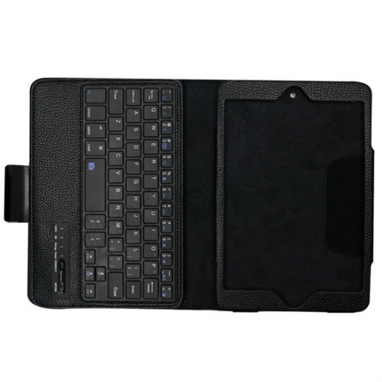 high quanlity Black Folding PU Leather Case for Apple iPad Mini 4 with Wireless Bluetooth Keyboard