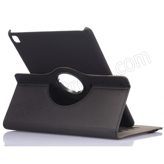 wholesale Black 360 Degree Rotay Jeans Cloth Leather Stand Case Cover For iPad Pro 9.7 Inch