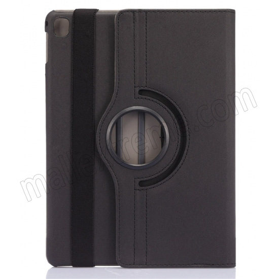 discount Black 360 Degree Rotay Jeans Cloth Leather Stand Case Cover For iPad Pro 9.7 Inch