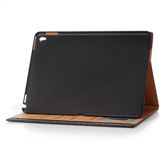 on sale Black Luxury Crocodile Grain Leather Stand Case Cover for Apple iPad Pro 9.7 Inch