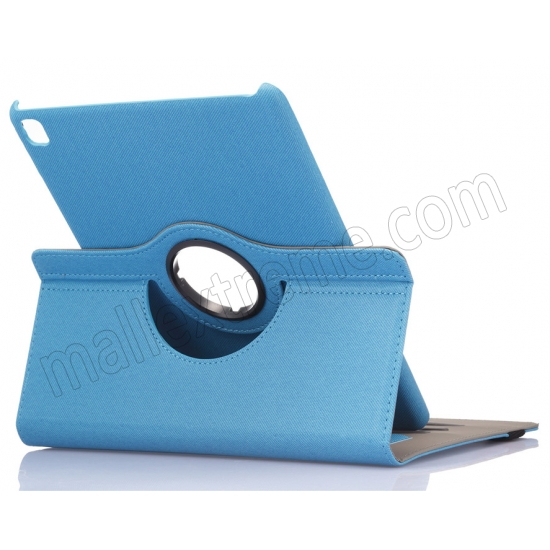 wholesale Light Blue 360 Degree Rotay Jeans Cloth Leather Stand Case Cover For iPad Pro 9.7 Inch