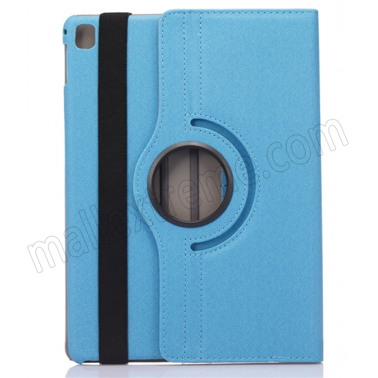 discount Light Blue 360 Degree Rotay Jeans Cloth Leather Stand Case Cover For iPad Pro 9.7 Inch