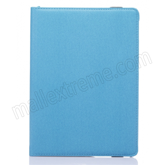 cheap Light Blue 360 Degree Rotay Jeans Cloth Leather Stand Case Cover For iPad Pro 9.7 Inch