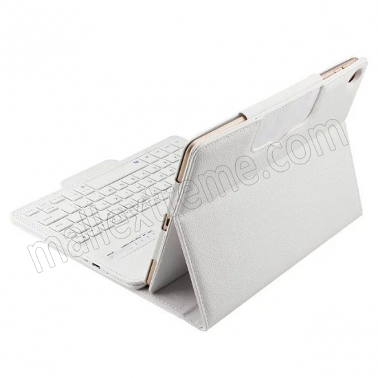 discount White Detachable Wireless Bluetooth Keyboard Folio Leather Case for iPad Pro 9.7 inch