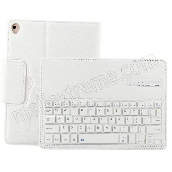 cheap White Detachable Wireless Bluetooth Keyboard Folio Leather Case for iPad Pro 9.7 inch