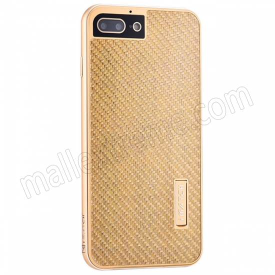 wholesale Gold Aluminum Metal Carbon fiber Hard Back Cover Case for iPhone 7