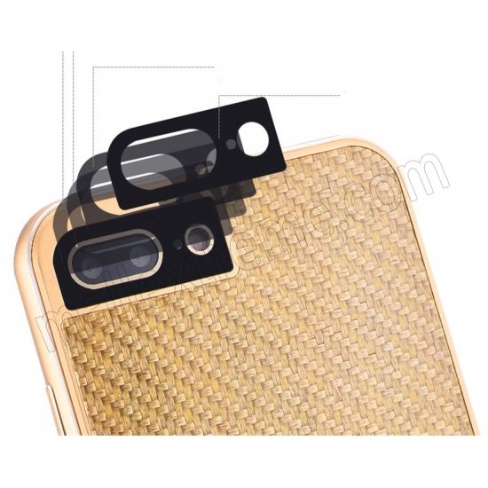 low price Gold Aluminum Metal Carbon fiber Hard Back Cover Case for iPhone 7