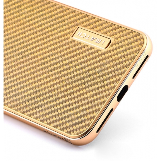 discount Gold&Silver Aluminum Metal Carbon fiber Hard Back Cover Case for iPhone 7