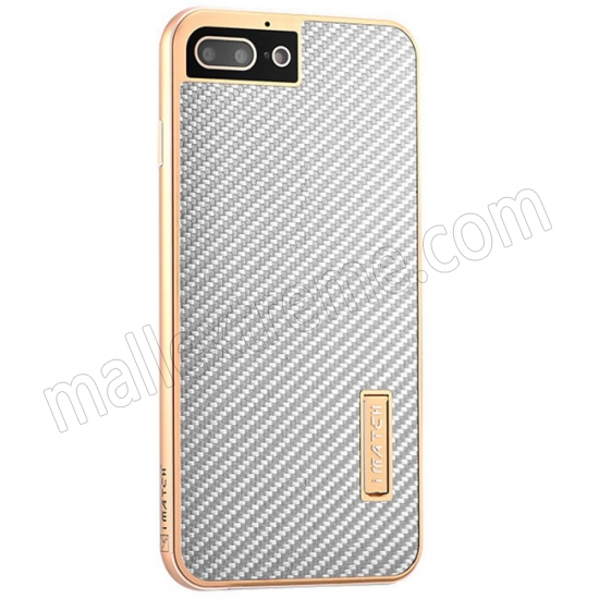 wholesale Gold&Silver Aluminum Metal Carbon fiber Hard Back Cover Case for iPhone 7