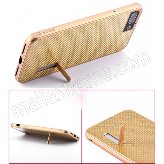 best price Gold&Silver Aluminum Metal Carbon fiber Hard Back Cover Case for iPhone 7