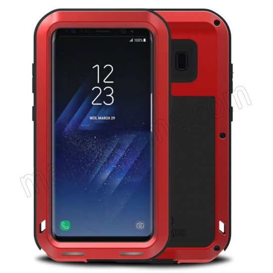 wholesale Red Aluminum Metal Anti-Drop Cover Outdoor Sport Dirt Shockproof Protective Armor Case For Samsung Galaxy S8