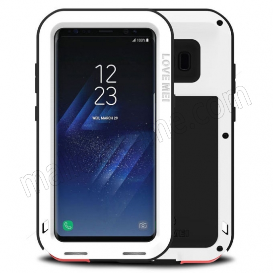 wholesale White Aluminum Metal Anti-Drop Cover Outdoor Sport Dirt Shockproof Protective Armor Case For Samsung Galaxy S8