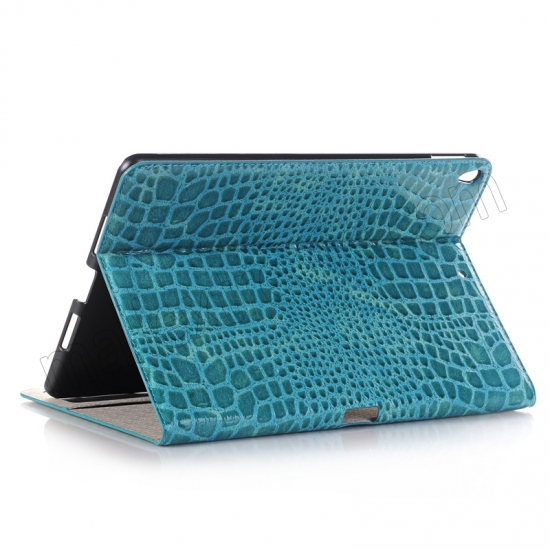 wholesale Blue Crocodile Pattern Smart Shell Case Auto Sleep Wake Cover for iPad Pro 10.5 inch