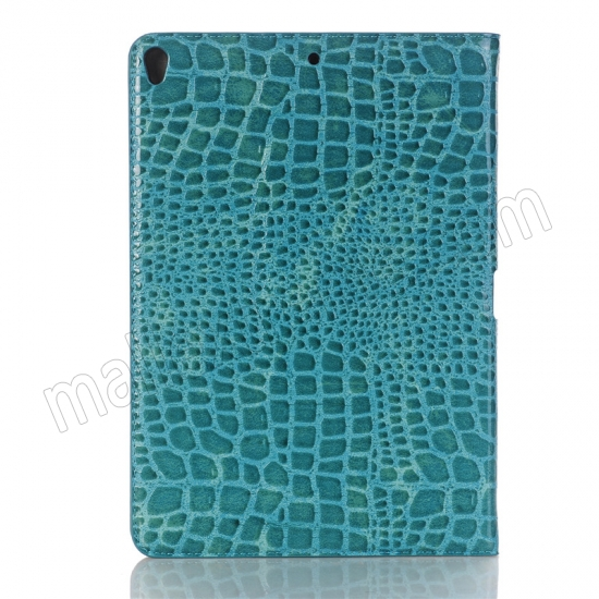 top quality Blue Crocodile Pattern Smart Shell Case Auto Sleep Wake Cover for iPad Pro 10.5 inch