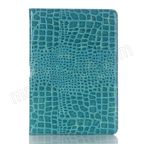 best price Blue Crocodile Pattern Smart Shell Case Auto Sleep Wake Cover for iPad Pro 10.5 inch