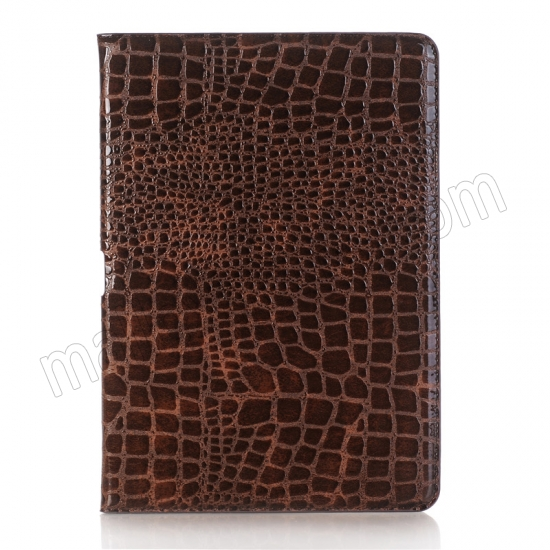 discount Brown Crocodile Pattern Smart Shell Case Auto Sleep Wake Cover for iPad Pro 10.5 inch