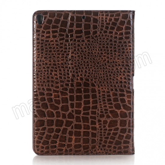 cheap Brown Crocodile Pattern Smart Shell Case Auto Sleep Wake Cover for iPad Pro 10.5 inch