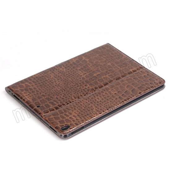 on sale Brown Crocodile Pattern Smart Shell Case Auto Sleep Wake Cover for iPad Pro 10.5 inch