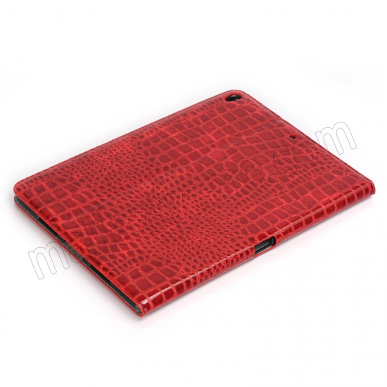 cheap Red Crocodile Pattern Smart Shell Case Auto Sleep Wake Cover for iPad Pro 10.5 inch