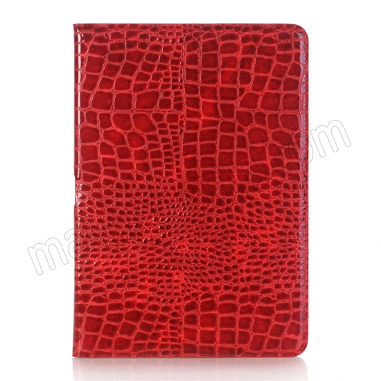 best price Red Crocodile Pattern Smart Shell Case Auto Sleep Wake Cover for iPad Pro 10.5 inch