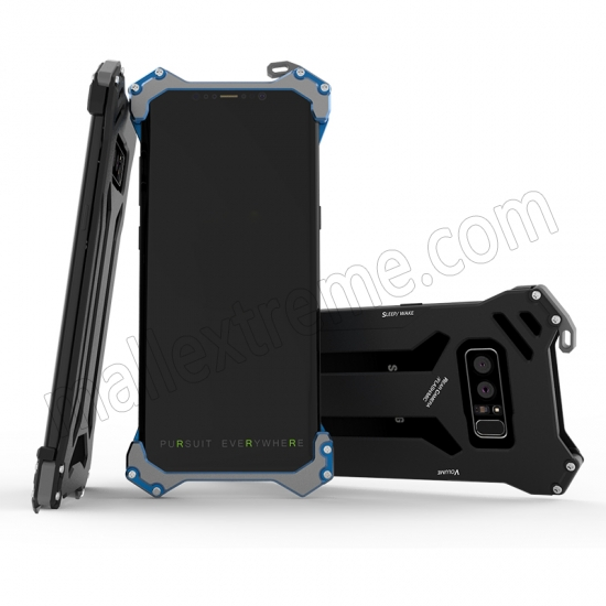 best price Black R-Just Aluminum Metal Shockproof Case for Samsung Galaxy Note 8
