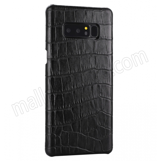 cheap Black Luxury Genuine Leather Crocodile Back Case Cover For Samsung Galaxy Note 8
