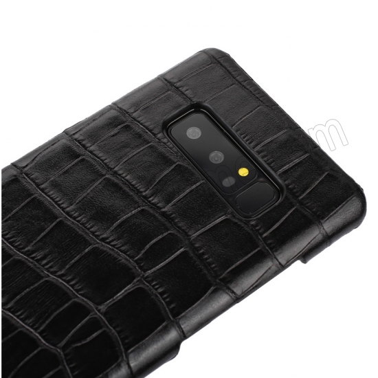 top quality Black Luxury Genuine Leather Crocodile Back Case Cover For Samsung Galaxy Note 8