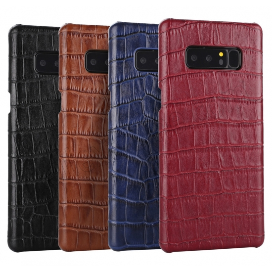 low price Black Luxury Genuine Leather Crocodile Back Case Cover For Samsung Galaxy Note 8