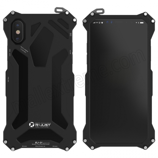 wholesale Black R-Just Aluminum Alloy Case for iPhone X