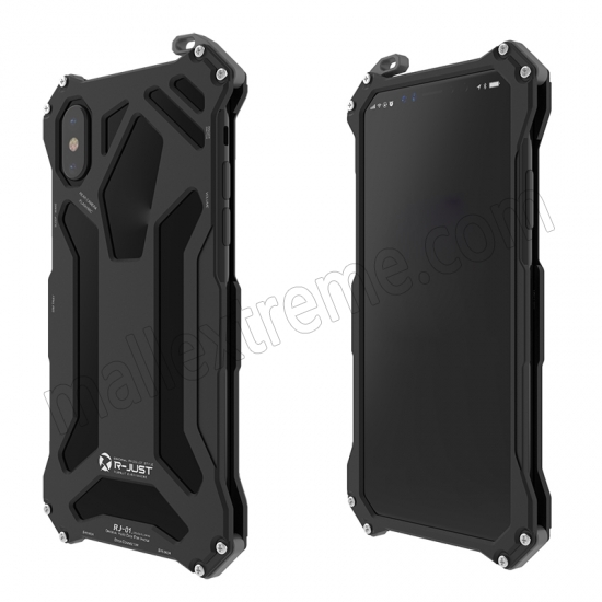 discount Black R-Just Aluminum Alloy Case for iPhone X