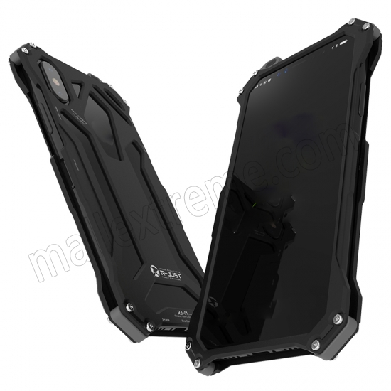 cheap Black R-Just Aluminum Alloy Case for iPhone X