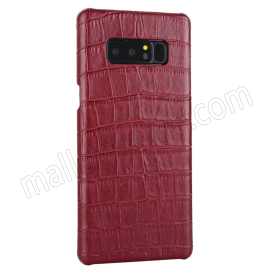 discount Red Luxury Genuine Leather Crocodile Back Case Cover For Samsung Galaxy Note 8
