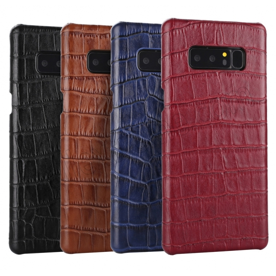 best price Red Luxury Genuine Leather Crocodile Back Case Cover For Samsung Galaxy Note 8