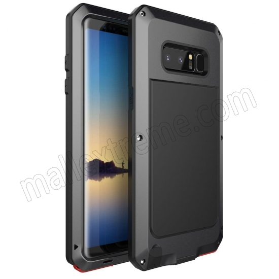 wholesale Black Aluminum Metal Water Resistant Shock Dust proof Case For Samsung Galaxy Note 8