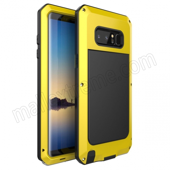 wholesale Yellow Aluminum Metal Water Resistant Shock Dust proof Case For Samsung Galaxy Note 8