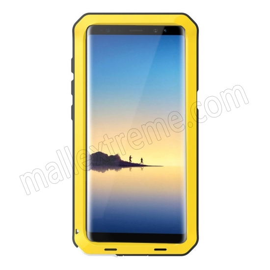discount Yellow Aluminum Metal Water Resistant Shock Dust proof Case For Samsung Galaxy Note 8