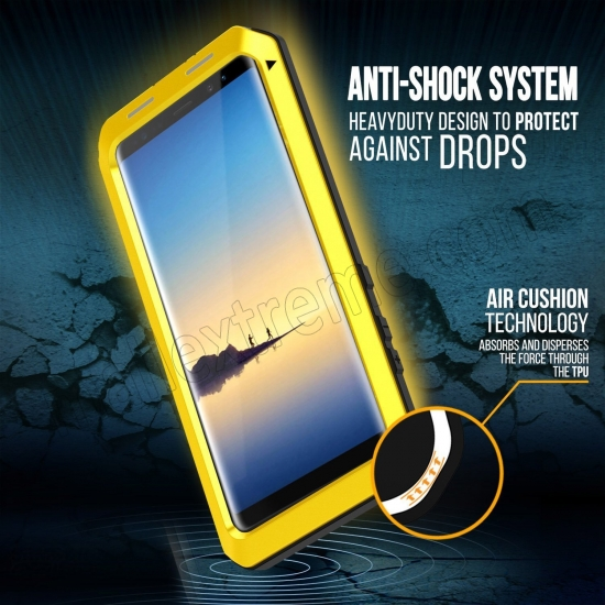 on sale Yellow Aluminum Metal Water Resistant Shock Dust proof Case For Samsung Galaxy Note 8