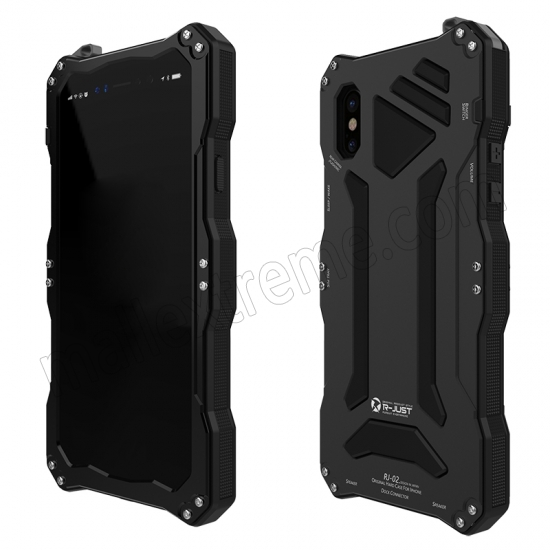 cheap Black Aluminum Metal Waterproof Shockproof Dust-proof Case for iPhone X